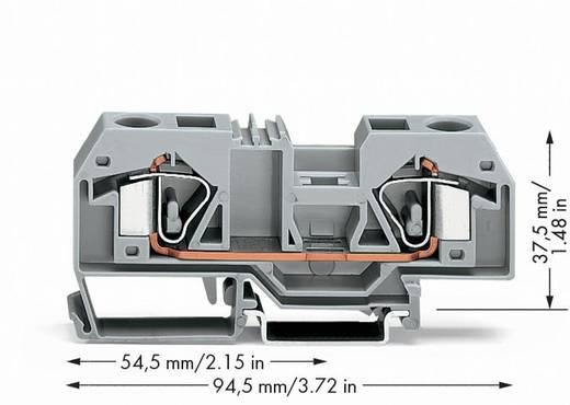 Doorgangsklem 12 mm Veerklem Toewijzing: L Grijs WAGO 283-901 20 stuks