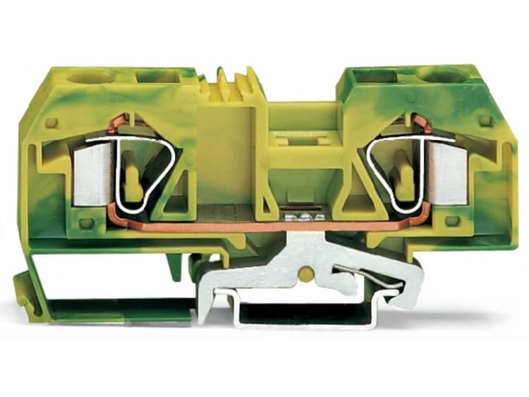WAGO 283-907/999-950 Aardingsklem 12 mm Veerklem Toewijzing: Terre Groen-geel 20 stuks