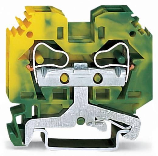 Aardingsklem 10 mm Veerklem Toewijzing: Terre Groen-geel WAGO 284-107 50 stuks
