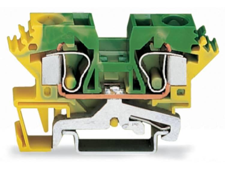 WAGO 284-607/999-950 Aardingsklem 10 mm Veerklem Toewijzing: Terre Groen-geel 25 stuks