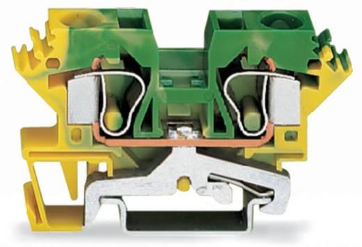 Aardingsklem 10 mm Veerklem Toewijzing: Terre Groen-geel WAGO 284-607/999-950 25 stuks