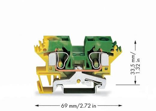 Aardingsklem 10 mm Veerklem Toewijzing: Terre Groen-geel WAGO 284-607 25 stuks