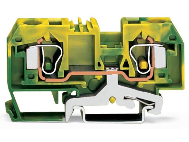 WAGO 284-907 Aardingsklem 10 mm Veerklem Toewijzing: Terre Groen-geel 25 stuks