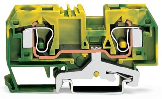 Aardingsklem 10 mm Veerklem Toewijzing: Terre Groen-geel WAGO 284-907 25 stuks