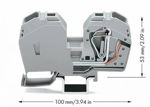 Doorgangsklem 16 mm Veerklem Toewijzing: L Grijs WAGO 285-635 15 stuks