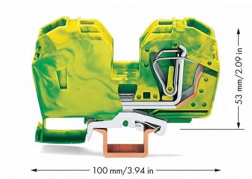 Aardingsklem 16 mm Veerklem Toewijzing: Terre Groen-geel WAGO 285-637/999-950 15 stuks