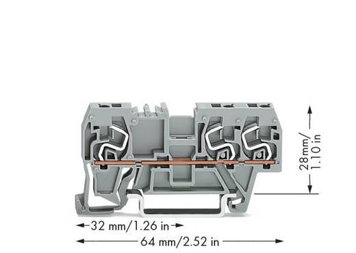 Doorgangsklem 5 mm Veerklem Toewijzing: L Grijs WAGO 290-661 100 stuks