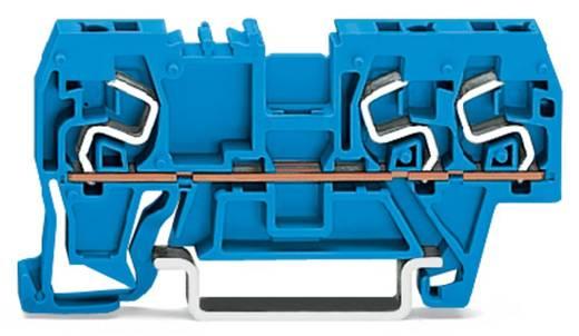Doorgangsklem 5 mm Veerklem Toewijzing: N Blauw WAGO 290-664 100 stuks