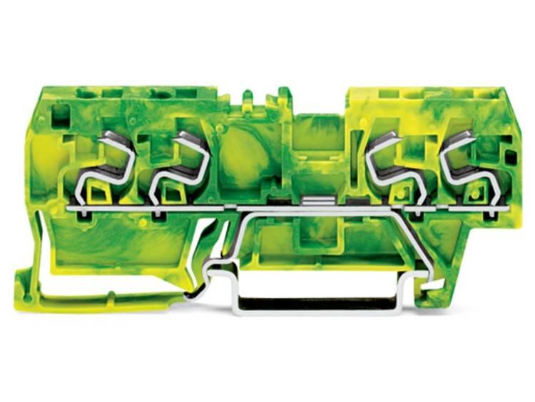 WAGO 290-867 Aardingsklem 5 mm Veerklem Toewijzing: Terre Groen-geel 100 stuks