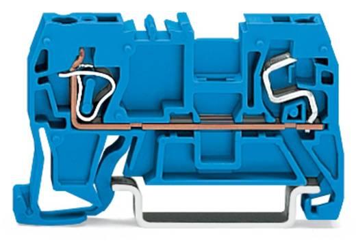 Doorgangsklem 5 mm Veerklem Toewijzing: N Blauw WAGO 290-904 100 stuks