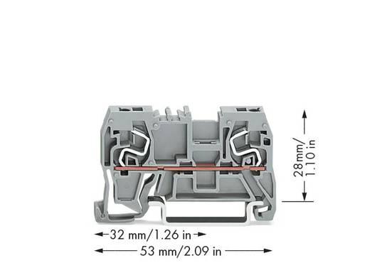 Doorgangsklem 5 mm Veerklem Toewijzing: L Grijs WAGO 290-961 100 stuks