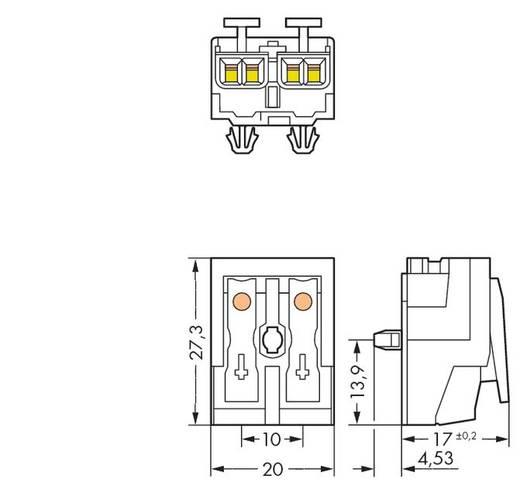 WAGO Netaansluitingsklem Flexibel: - Massief: 0.5-1.5 mm² Aantal polen: 2 1000 stuks Wit