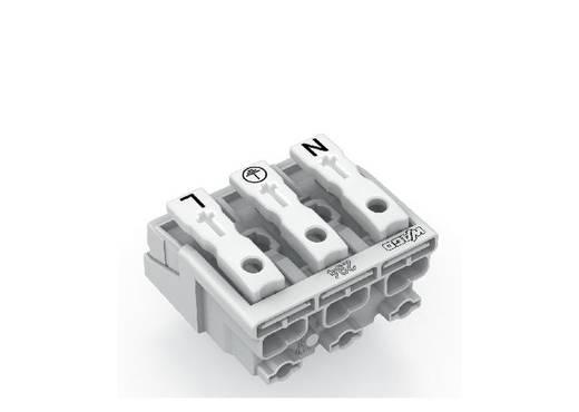 WAGO Netaansluitingsklem Flexibel: - Massief: 0.5-1.5 mm² Aantal polen: 3 500 stuks Wit