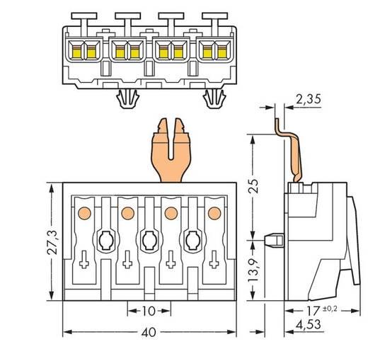 WAGO 294-5324 Netaansluitingsklem Flexibel: - Massief: 0.5-1.5 mm² Aantal polen: 4 500 stuks Wit