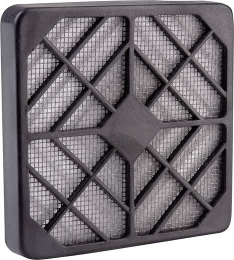 Wallair Kunststof ventilatorrooster met filter Zwart