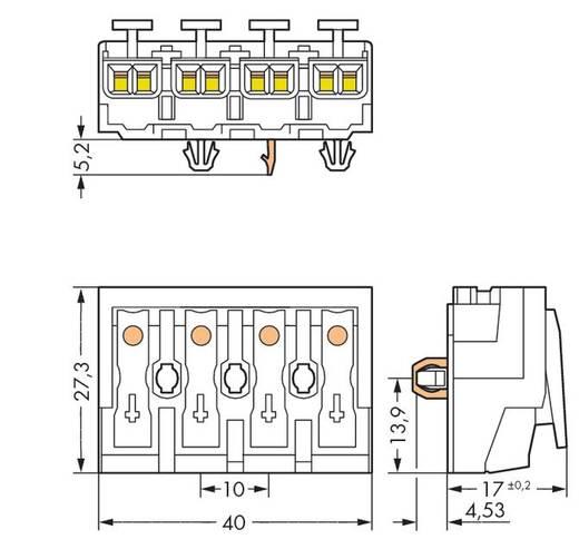 WAGO Netaansluitingsklem Flexibel: - Massief: 0.5-1.5 mm² Aantal polen: 4 500 stuks Wit