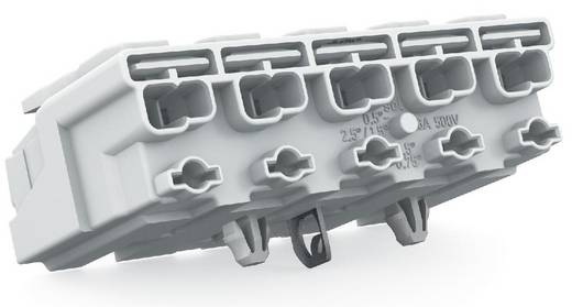 WAGO Netaansluitingsklem Flexibel: - Massief: 0.5-1.5 mm² Aantal polen: 5 250 stuks Wit