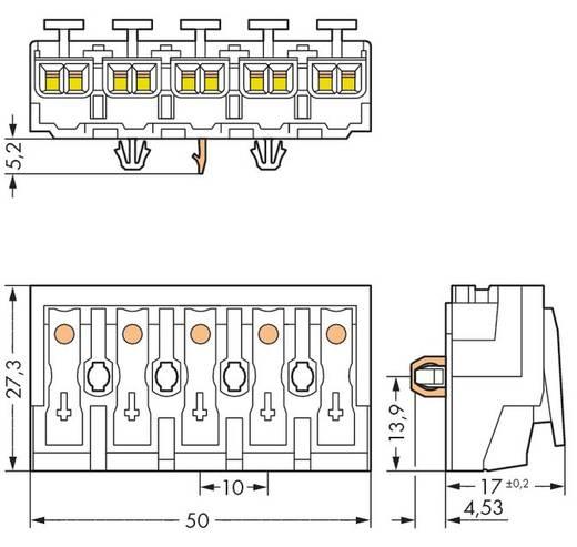 WAGO 294-5155 Netaansluitingsklem Flexibel: - Massief: 0.5-1.5 mm² Aantal polen: 5 250 stuks Wit