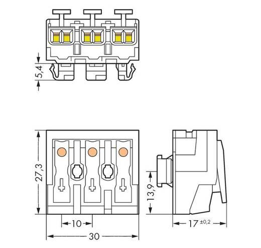 WAGO 294-8013 Netaansluitingsklem Flexibel: - Massief: 0.5-2.5 mm² Aantal polen: 3 500 stuks Wit