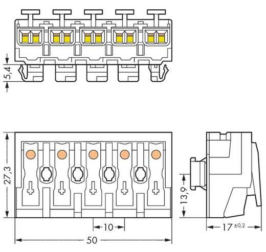 WAGO Netaansluitingsklem Flexibel: - Massief: 0.5-2.5 mm² Aantal polen: 5 250 stuks Wit