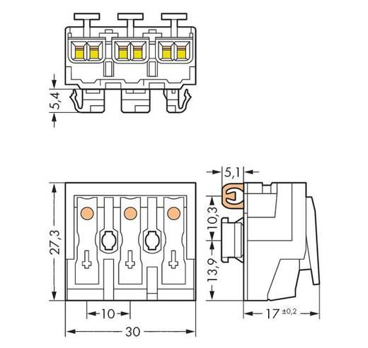 WAGO 294-8113 Netaansluitingsklem Flexibel: - Massief: 0.5-2.5 mm² Aantal polen: 3 500 stuks Wit