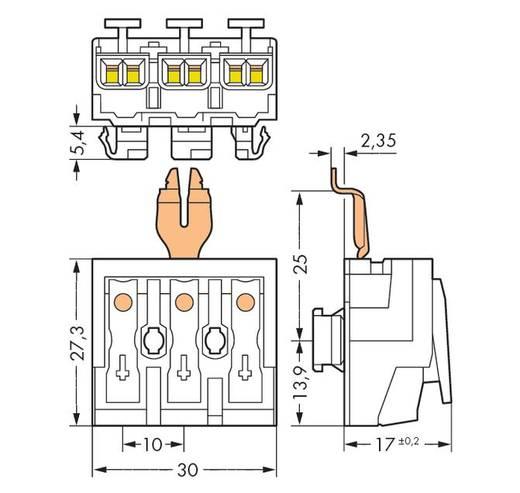 WAGO 294-8313 Netaansluitingsklem Flexibel: - Massief: 0.5-2.5 mm² Aantal polen: 3 500 stuks Wit