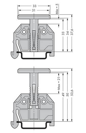 WAGO 709-119 Drager-eindelement 50 stuks
