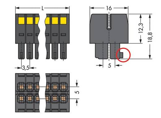 Busbehuizing-kabel 713 Totaal aantal polen 22 WAGO 713-1111/034-9037 Rastermaat: 3.50 mm 25 stuks