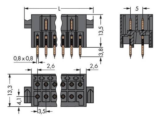 WAGO 713-1418/037-000 Male header (standaard) 1735 Totaal aantal polen 36 Rastermaat: 3.50 mm 10 stuks