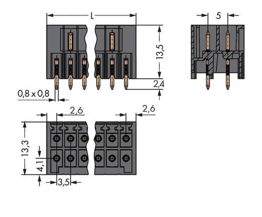 Male header (standaard) 1735 Totaal aantal polen 8 WAGO 713-1404/105-000 Rastermaat: 3.50 mm 50 stuks