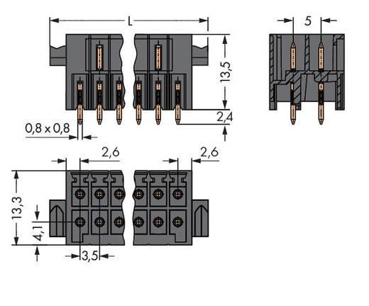 WAGO 713-1418/116-000 Male header (standaard) 1735 Totaal aantal polen 36 Rastermaat: 3.50 mm 10 stuks