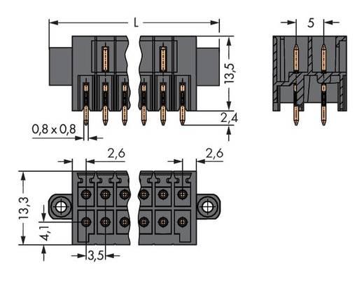 Male header (standaard) 1735 Totaal aantal polen 22 WAGO 713-1411/117-000 Rastermaat: 3.50 mm 20 stuks