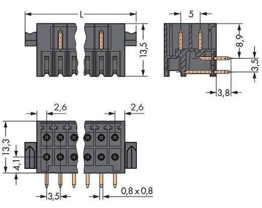 WAGO 713-1438/037-000 Male header (standaard) 1735 Totaal aantal polen 36 Rastermaat: 3.50 mm 10 stuks