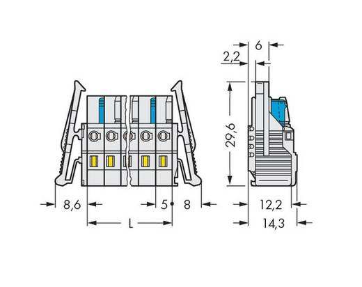 Busbehuizing-kabel 721 Totaal aantal polen 9 WAGO 721-109/037-000 Rastermaat: 5 mm 25 stuks