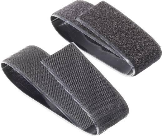 Fastech Klittenband om vast te plakken Haak- en lusdeel (l x b) 500 mm x 50 mm Zwart 1 paar
