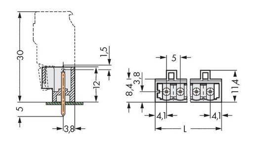WAGO 721-169/046-000 Male header (standaard) 2060 Totaal aantal polen 9 Rastermaat: 5 mm 100 stuks