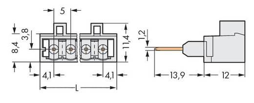 Male header (standaard) 2060 Totaal aantal polen 12 WAGO 721-172/003-000 Rastermaat: 5 mm 100 stuks