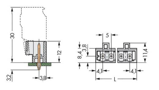 Male header (standaard) Totaal aantal polen 10 WAGO 721-170