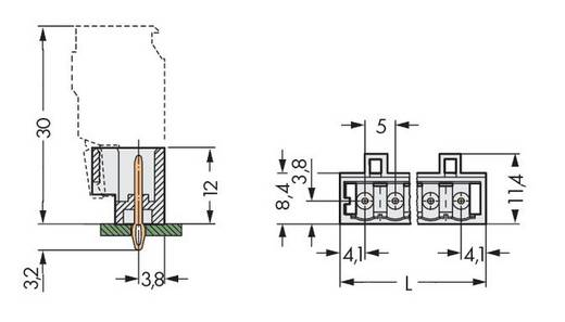WAGO 721-170/100-000 Male header (standaard) 2060 Totaal aantal polen 10 Rastermaat: 5 mm 100 stuks