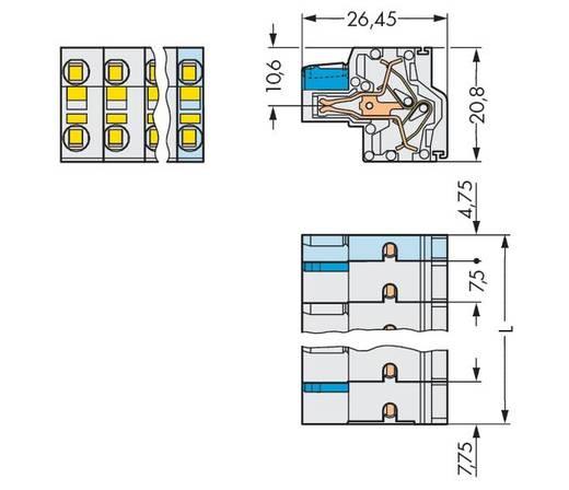 WAGO 721-2206/026-000 Busbehuizing-kabel 721 Totaal aantal polen 6 Rastermaat: 7.50 mm 50 stuks