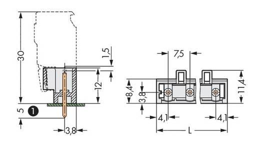 WAGO 721-266/001-000 Male header (standaard) 2060 Totaal aantal polen 6 Rastermaat: 7.50 mm 100 stuks