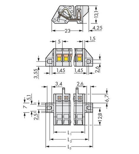 Busbehuizing-kabel 721 Totaal aantal polen 4 WAGO 721-304/031-047 Rastermaat: 5 mm 50 stuks