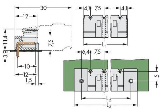 WAGO 721-841/001-000 Male header (standaard) 2060 Totaal aantal polen 11 Rastermaat: 7.50 mm 50 stuks