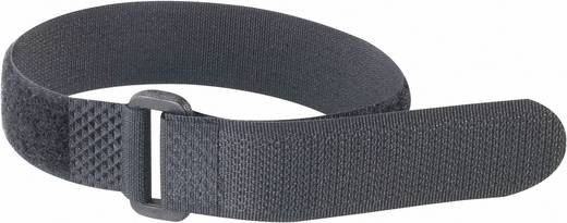 Fastech Klittenband met riem Haak- en lusdeel (l x b) 300 mm x 20 mm Zwart 1 stuks