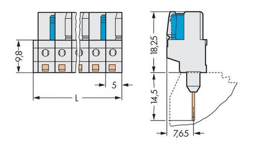 WAGO 722-134/005-000 Busbehuizing-board 722 Totaal aantal polen 4 Rastermaat: 5 mm 100 stuks