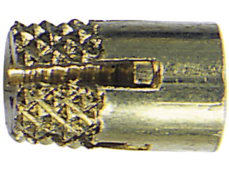Bopla GEWINDEBUCHSEN DODGE M3x6,5 Draadbus Messing Messing 1 stuks