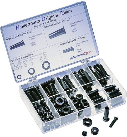 Knikbeschermingsmofset PVC HellermannTyton HOTKIT 100 onderdelen