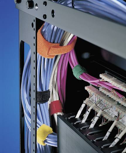 HellermannTyton Textie M Klittenband kabelbinders om te bundelen Haak- en lusdeel (l x b) 200 mm x 12.5 mm Groen 10 stuk