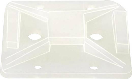 HellermannTyton 151-11819 TY8G1S-PA66-NA-C1 Bevestigingssokkel Zelfklevend, Schroefbaar halogeenvrij Transparant 1 stuks