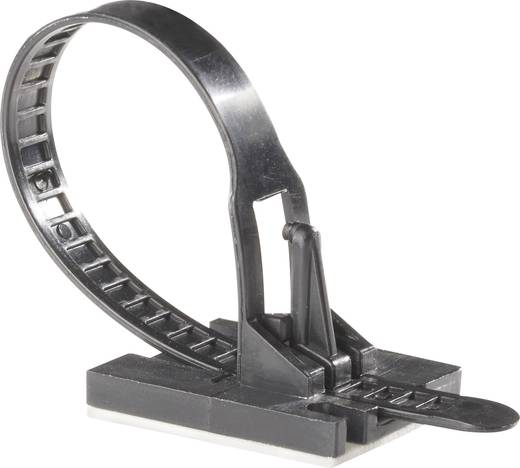 Richco TOBS-18-01A-RT Kabelbinder 117 mm Zwart Met kleefsokkel 1 stuks